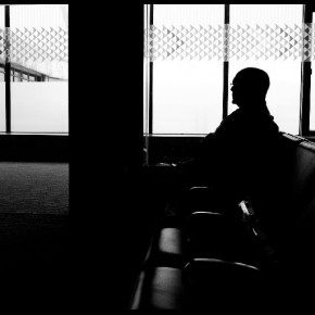 """While waiting at the Mumbai International Airport, I saw a man sitting in the lounge waiting for his flight. The manner in which light was streaming through the large glass windows behind him, made me want to capture this silhouette."" Photograph/Abhishek Parashar"