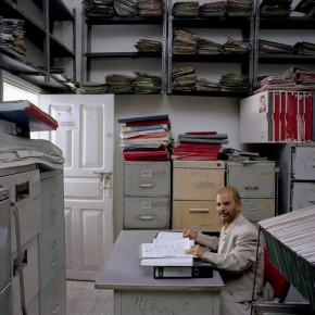 Ali Abdulmalik Shuga manages the archives of the Ministry of Trade and Commerceís office in Yemen, with a salary of Yemeni Rial 30,500 (approx. Rs. 6500) Photograph/ Jan Banning