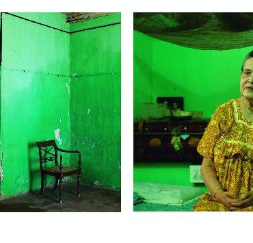 Rahul created this diptych that juxtaposes the portrait of a Jewish lady along with the place she lives in. Photograph/Rahul S R