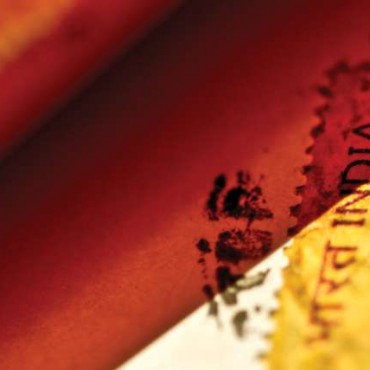 Since letters travel several miles and through many post offices, a close-up of the stamp assumes a lot of significance. Photograph/Bhumi Ahluwalia