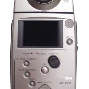 Hitachi MP-EG1, EG1A, EG10: Released in 1997, these were the first digital cameras that could upload moving pictures to a personal computer in the MPEG format. Their could store up to 246 images.