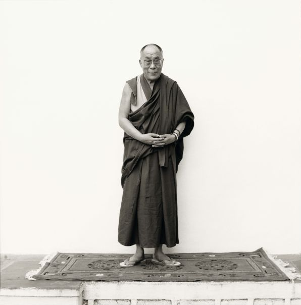 His Holiness the Dalai Lama at Rato Dratsang. Photograph/Nicholas Vreeland/ Tasveer Arts