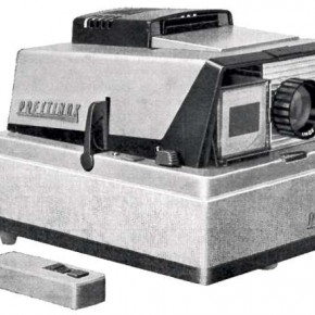 Slide Projectors: Slide projectors gained popularity from around 1950–1970 and were used a lot by families. Source/Wikimedia Commons