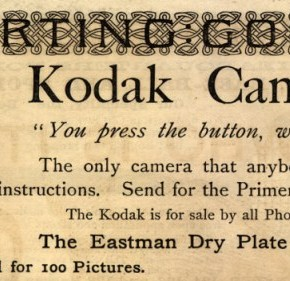 Kodak: Published in the year 1889, the famous phrase 'You press the button we do the rest' was the first marketing slogan used by George Eastman to promote the Kodak camera. The slogan has become Kodak's brand identity since then. Source: www.vintageadbrowser.com