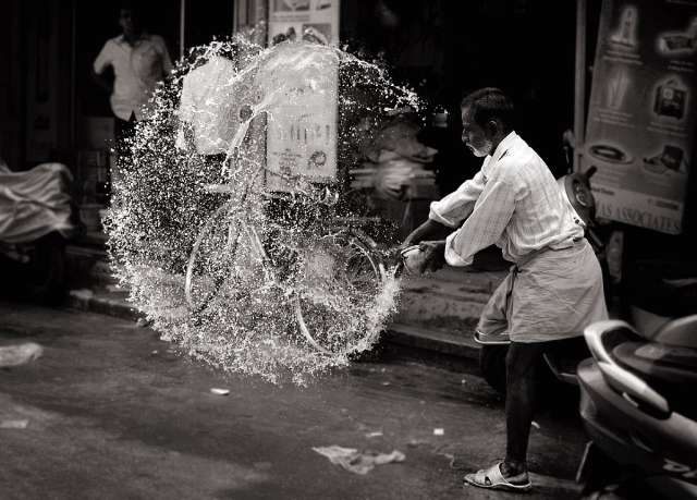 Fast shutter speed photography people