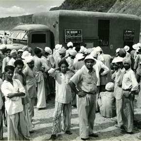 Workers at the Bhakra site. Photograph/Kulwant Roy