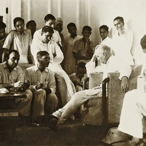 Nehru at a press conference. Photograph/Kulwant Roy