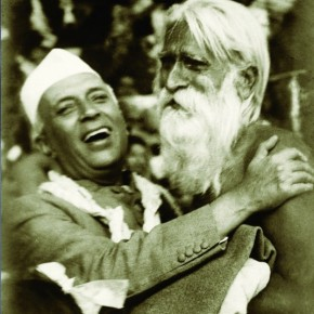 Nehru with a visitor at the Teen Murti Bhawan, Delhi. Photograph/Kulwant Roy