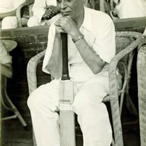 Prime Minister Nehru at a parliamentarian's cricket match, Delhi. Photograph/Kulwant Roy