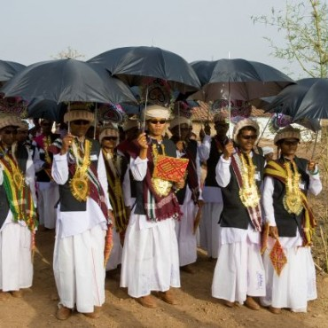 A part of an ongoing project on the Narmada river, this image was made during a mass wedding of Baiga tribals in Madhya Pradesh. Photograph/Hari Mahidhar