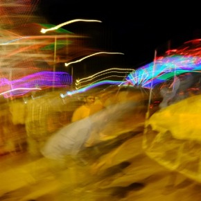 While a similar effect can be achieved by using Slow Sync flash, I made do with the lack of an on camera flash by keeping the camera steady for half the exposure. Photograph/Raj Lalwani