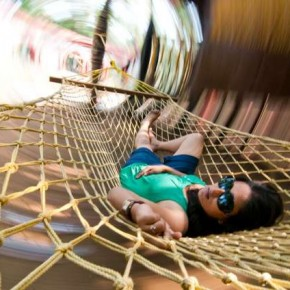 Blur can take different patterns, if you attach the camera to a moving subject like a hammock. Photograph/Abhinav Sah