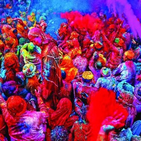 This image was shot at Barsana, where a group of people were singing folk songs during Holi celebrations. Poras enjoys shooting festivals, as they give the best of faces, expressions and moments. Photograph/Poras Chaudhary