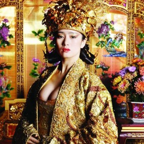 This was shot on the sets of Curse of The Golden Flower, which was directed by Zhang Yimou. In this movie, actress Gong Li plays the Empress of the Tang dynasty. Photograph/Russel Wong