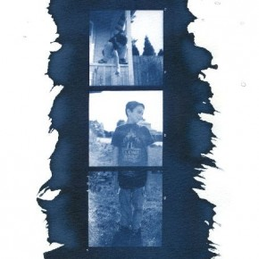 You can use several film negatives to create cyanotypes. Arrange them linearly, or even scatter them around. Photograph/Samantha Martin