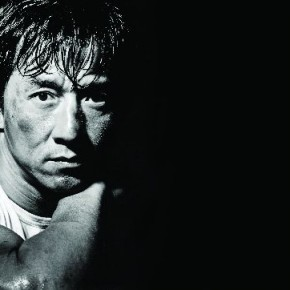 """This image of Jackie Chan was shot in Hong Kong, just after a shoot of the actor's miniature action figure. """"I had a very classic Hollywood look for Jackie in mind… almost like a Marlon Brando portrait!,"""" Russel elaborates. Photograph/Russel Wong"""