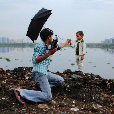 For this photographer from Kurla, the river and the buildings of Bandra Kurla Complex provide an easily accessible backdrop for shoots. If the river was clean, this would have been an ideal riverfront. Photograph/Gopal MS