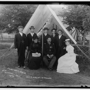 Captain Simmons and friends at camp McKibbin, 1893. Photograph/Mathew B Brady