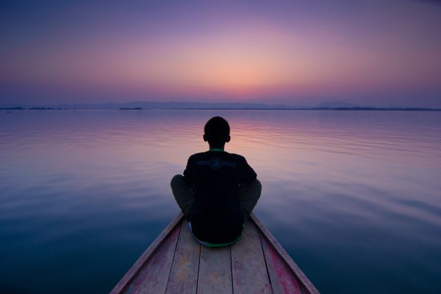 """It is amazing how photographs can also convey emotions like silence and serenity. I made this picture in the beautiful lake city of Rangamati in Bangladesh, where a man looked at the horizon, perhaps engrossed in contemplation."" Photograph/Shahnaz Parvin"