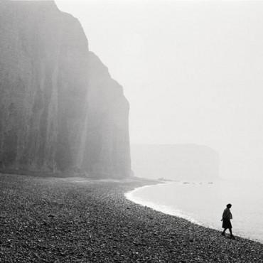"France, Normandy. The ""Les Petites Dalles"" beach, 1973. Photograph/Martine Franck"