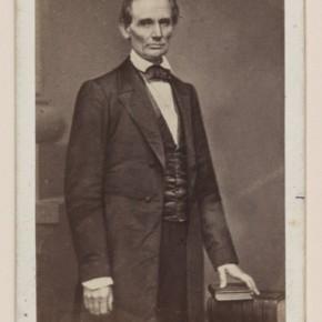 Abraham Lincoln before the Union Cooper speech, 1860. Photograph/Mathew B Brady