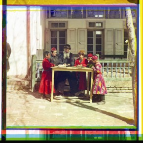 A group of Jewish children with a teacher in Samarkand, (in modern Uzbekistan), 1910. Photograph/S M Prokudin-Gorsky