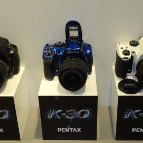 Pentax displayed three available colour models of K-30.