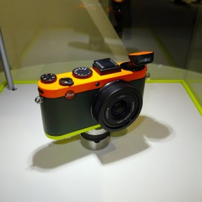 Leica displayed some colourful cameras at its stall.