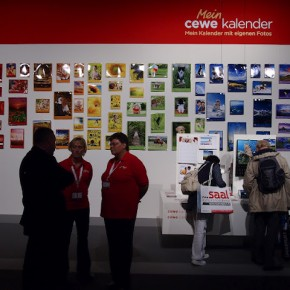 The wall at Cewe stall was decorated with photo prints.