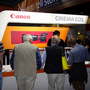 Canon displayed its range of Cinemas lenses at the trade show.