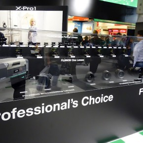 Fujinon showcased their Large format and Cine lenses at their booth.