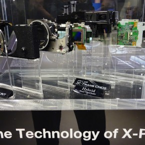 An interesting showcase of X-Pro1 technology at Fujifilm's stall.