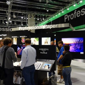 Professional paper was displayed at Fujifilm's booth.