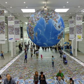 The photo globe installation at photokina 2012.