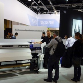 Epson displayed some of their printing solutions at the fair.
