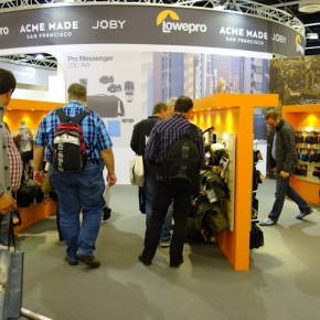 Lowepro camera bags had enough potential customers at their booth.