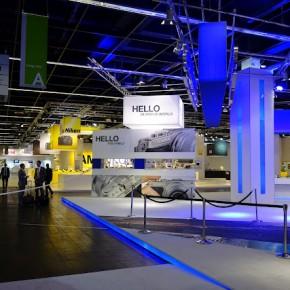 The Olympus booth at photokina 2012.
