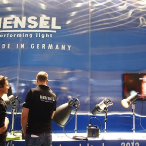 Hensel products at their booth.