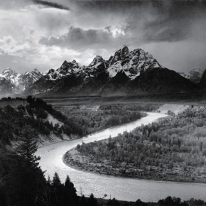 The Tetons and the Snake River. Photograph/Ansel Adams