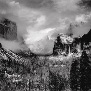 Yosemite Valley Clearing Winterstorm, 1942. Photograph/Ansel Adams