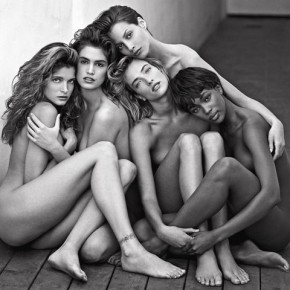 Stephanie, Cindy, Christy, Tatjana, Naomi, Hollywood, 1989. Photograph/Herb Ritts
