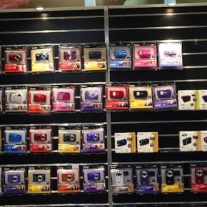 Vivitar cameras on display.