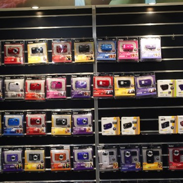 Vivitar cameras on display.