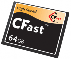 The new CFast cards promise to deliver four times the performance of cards that DSLRs use today.
