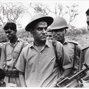 A young Thiagarajan covering the Bangladesh war. Photograph/ N Thiagarajan