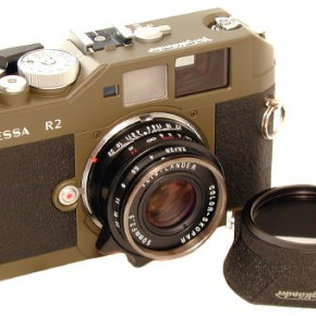 Voigtländer Bessa R2 (2002): This 35mm rangefinder was a huge improvement from its Bessa predecessors. Introduced by Cosina in 2002, it was coupled with the Leica M mount instead of the older screw mount in a much more compact structure.