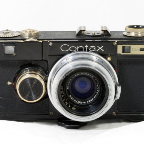 Contax 1 (1932): The Contax 1 was a 35mm rangefinder camera made by Zeiss Ikon to compete with Leica. Though it boasted a lower price and a better rangefinder system, it was much heavier in weight. There were several iterations of this rangefinder model.