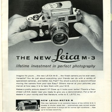 The Leica M3 was one of the most popular rangefinder cameras ever, with over 2,25,000 units sold till 1966. Image Source/Wikimedia Commons