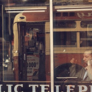 Reflections mark a recurring theme in Saul's work. Photograph/Saul Leiter
