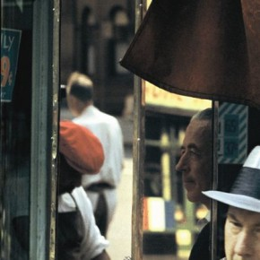 The tension in this photograph makes it a dynamic capture. At the same time, it doubles up as a unique street portrait. Photograph/Saul Leiter